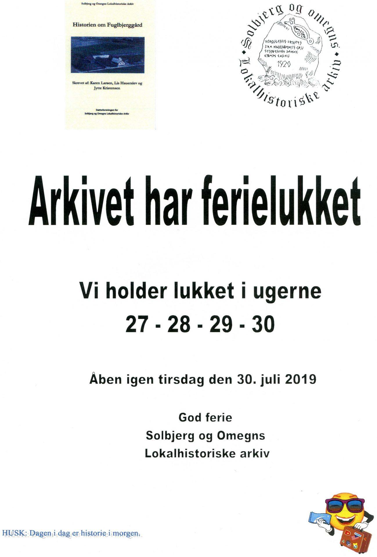 93ea455c855 Solbjerg og Omegns Lokalhistoriske Arkiv | Husk: Dagen i dag er ...