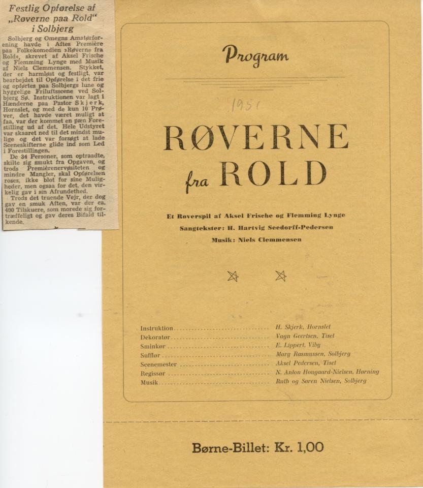 Røverne i Rold 1951